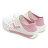《2019新款》Shoestw【92U1SA02PK】PONY Enjoy 洞洞鞋 水鞋 海灘鞋 可踩跟 懶人拖 菱格紋 白粉紅 男女尺寸都有 3
