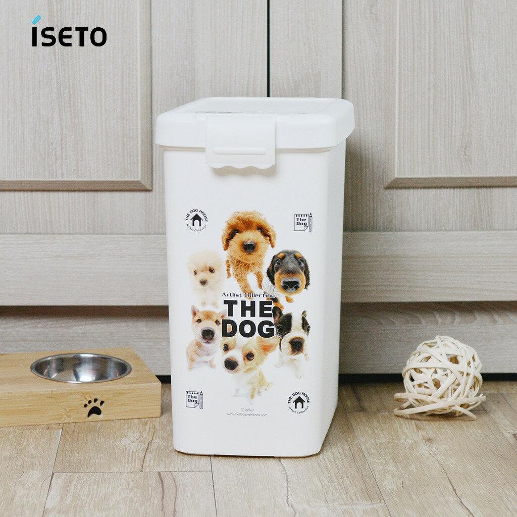 日本ISETO 寵物飼料零食密封收納桶-13L 1
