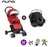 【組合現省$4100 再送贈涼感座墊+汽車椅連接器+玩偶】荷蘭【Nuna】Pepp Luxx 二代時尚手推車(紅色)+PIPA提籃 0