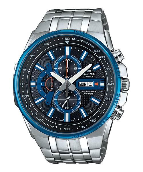 清水鐘錶 CASIO 卡西歐 EFR-549D-1A2VUDF EDIFICE 經典賽車系列 銀x藍 44mm