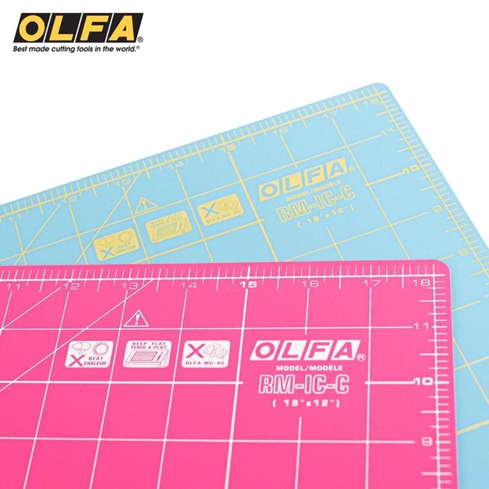又敗家@日本OLFA雙面拼布墊RM-IC-C防滑裁切墊A3切割墊(厚0.15mm;2種尺規)割布墊美工作墊裁縫墊縫紉墊子
