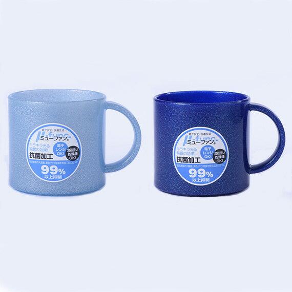 日本製mju-func®妙屋房銀纖維高級抗菌加工潄口杯雙人2件組(粉藍+銀河藍)