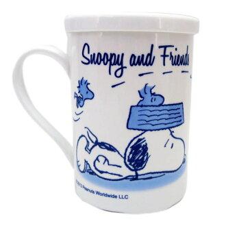 【真愛日本】13052200019 附蓋馬克杯-SN塔克D 史努比 SNOOPY 咖啡杯 下午茶杯 陶瓷杯
