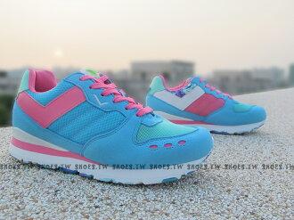 《超值990》Shoestw【53W1YK61BL】PONY YORK復古慢跑鞋 內增高 水藍桃 歐陽妮妮限定 迷彩
