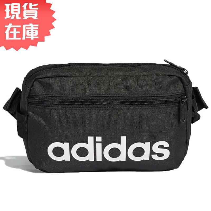 ★ 在庫★ Adidas LINEAR CORE 腰包 肩背 斜背 休閒 健身 黑 【 世界】DT4827