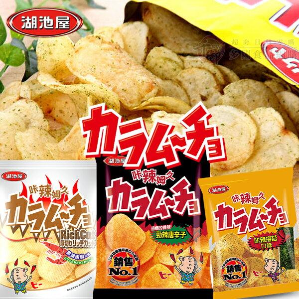 湖池屋咔辣姆久洋芋片 家庭包500g 餅乾 [TW4901335] 千御國際