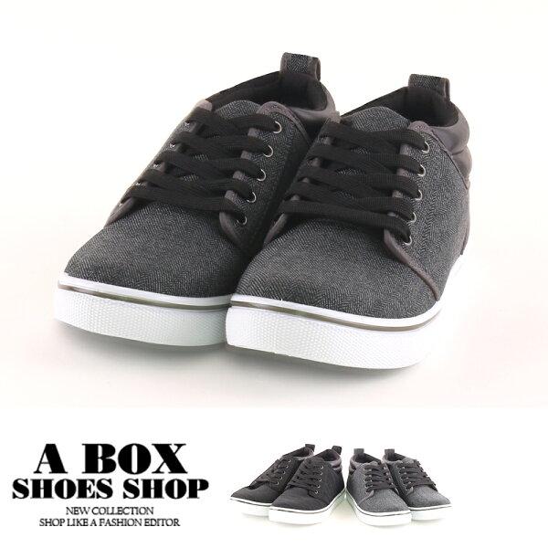 【AJ18090】男鞋(39-44)百搭布面低筒舒適休閒運動鞋MIT台灣製2色2.5CM