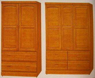 【尚品家具】663-12 柚木色4*6尺半實木衣櫃 ,另有3*6、3*7、4*7