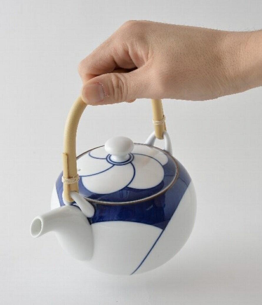 白山岐(波佐見潔具)直人手工梅花茶壺杯組