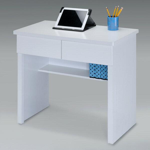 書桌 電腦桌 工作桌 學生書桌 辦公桌 桌子 套房出租《YoStyle》簡約二抽書桌-純白色