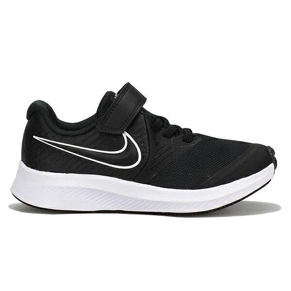 【滿額領券折$150】NIKE【AT1801-001】Star Runner 2 中童鞋 慢跑鞋 運動鞋 網布 黏帶 黑白