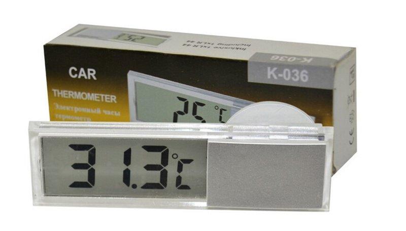 【現貨】吸盤式車用溫度計 液晶顯示 車用溫度計 汽車溫度計 電子溫度計 車用 汽車百貨 226G40