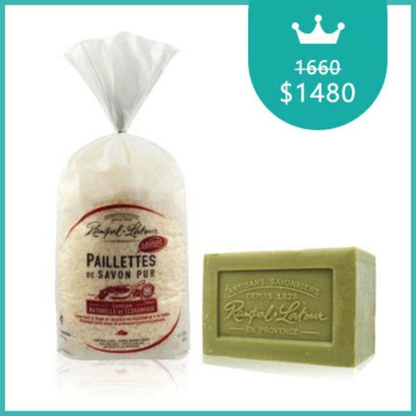 南法香頌馬賽皂洗衣皂絲1.5公斤(每款)+歐巴拉朵馬賽皂300g*1