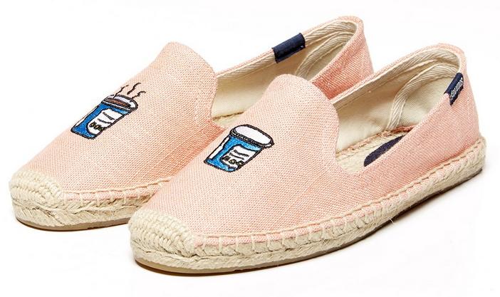 【Soludos】美國經典草編鞋-塗鴉系列草編鞋-粉色飲料