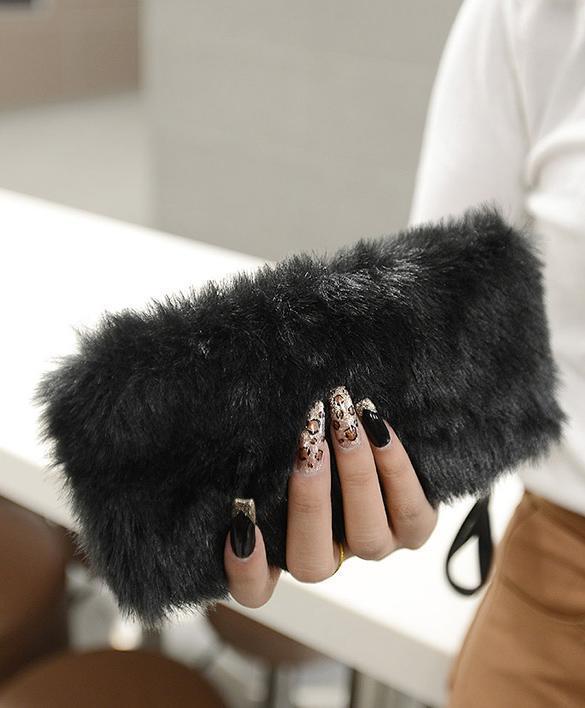 Clutch Bag Faux Fur  Wallet 3