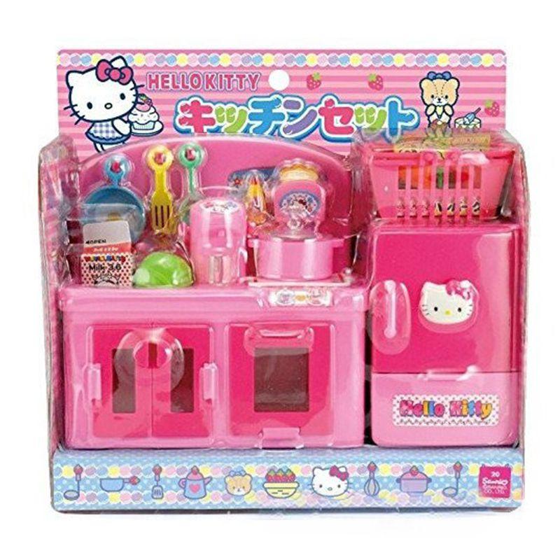 〔小禮堂嬰幼館〕Hello Kitty 扮家家酒廚房玩具組《粉.廚房用具》增加親子互動