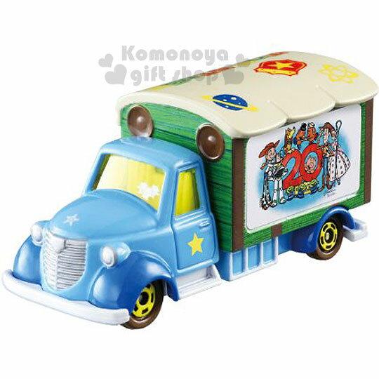 〔小禮堂〕玩具總動員 TOMICA小汽車《藍.送貨車》20週年紀念.經典造型值得收藏