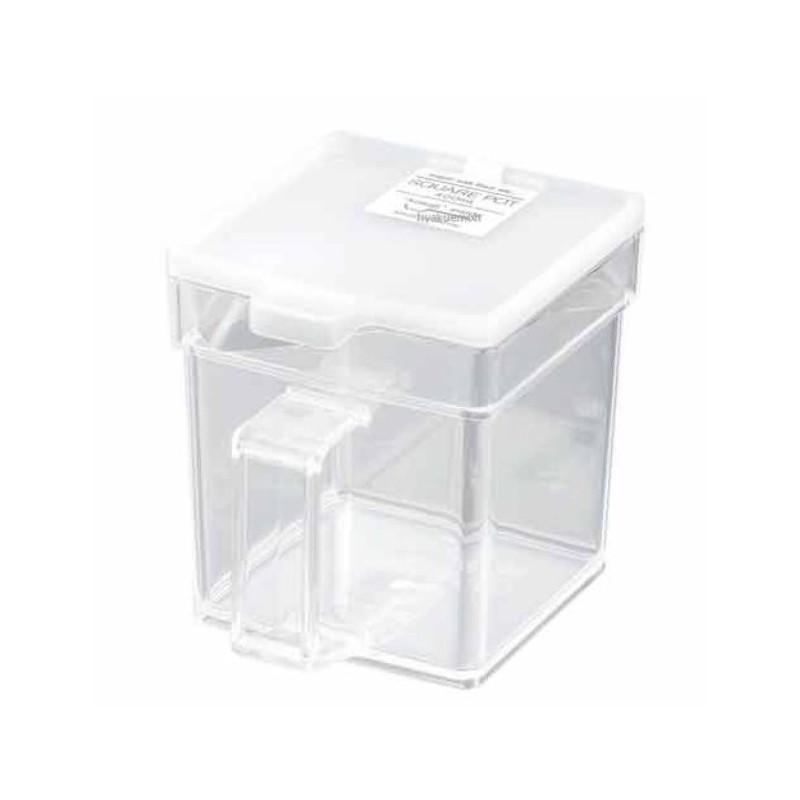 【領券折$30】小禮堂 日製透明調味盒《白.透明.方形.400ml》附匙