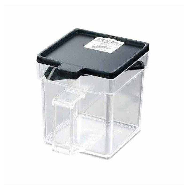 【領券折$30】小禮堂 日製透明調味盒《黑.透明.方形.400ml》附匙