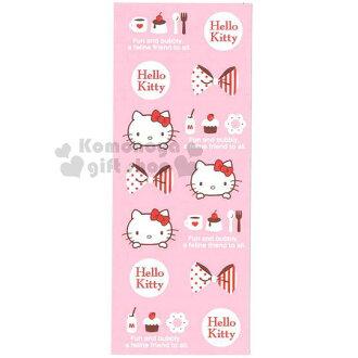 〔小禮堂〕 Hello Kitty 雙面書籤《粉.長型.甜點》