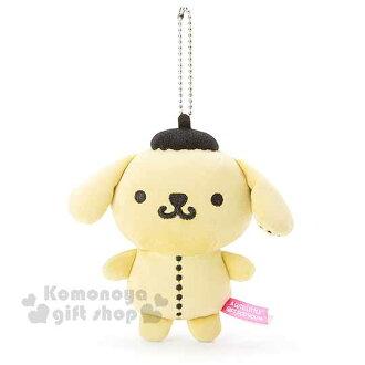 〔小禮堂〕Sanrio大集合 布丁狗 絨毛娃娃吊飾《黃.縫線》摩登繽紛街頭系列
