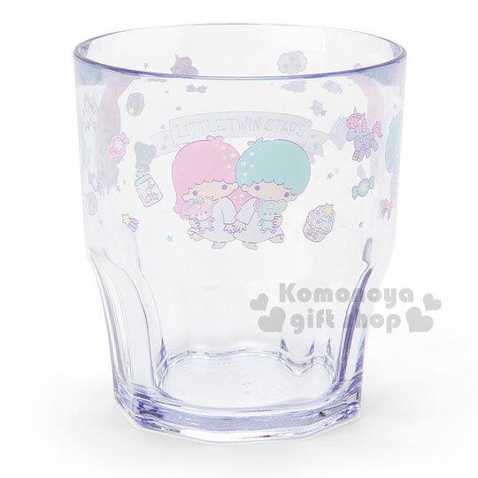 〔小禮堂〕雙子星 日製透明塑膠杯《糖果.木馬》容量300ml