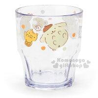 布丁狗周邊商品推薦到〔小禮堂〕布丁狗 日製透明塑膠杯《點點.倉鼠》容量300ml