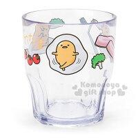 蛋黃哥週邊商品推薦〔小禮堂〕蛋黃哥 日製透明塑膠杯《番茄.培根》容量300ml