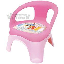 〔小禮堂〕迪士尼 米妮 日製兒童椅《粉.坐姿.點點》