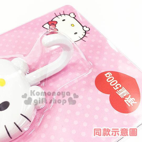 〔小禮堂〕Hello Kitty 貼式造型掛勾《紅.站姿.泡殼》耐重500g 1