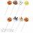 小禮堂 麵包超人 食物裝飾叉《8枝入.白》可重複使用 0