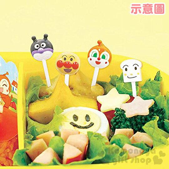 小禮堂 麵包超人 食物裝飾叉《8枝入.白》可重複使用 1