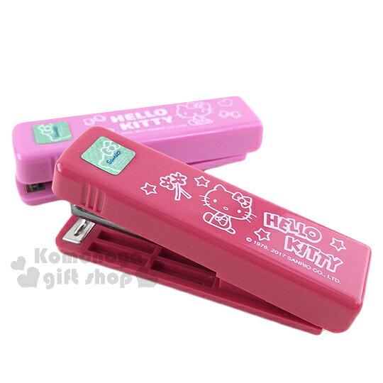 【領券折$30】小禮堂 Hello Kitty 隨身釘書機《2款.隨機出貨.紅/粉.坐姿》