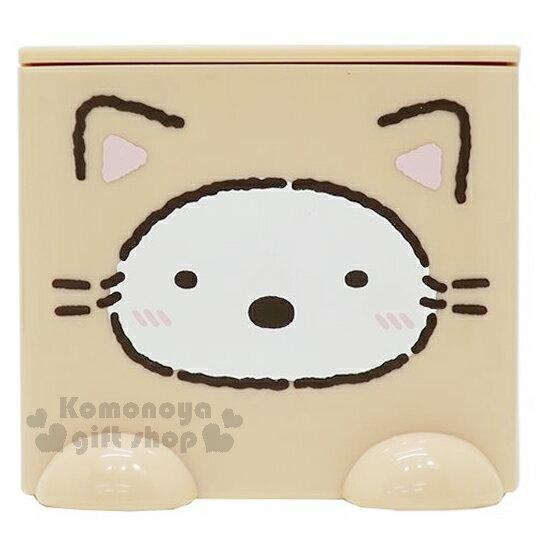〔小禮堂〕角落生物 北極熊 桌上單抽積木收納盒《咖.貓裝.白臉》可多個推疊