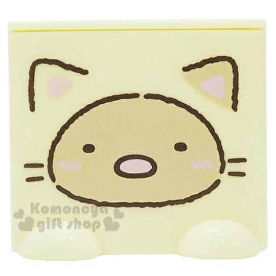 〔小禮堂〕角落生物 炸豬排 桌上單抽積木收納盒《黃.貓裝.咖臉》可多個推疊