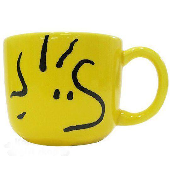 【領券折$30】小禮堂 Snoopy 史努比 糊塗塔客 日製陶瓷馬克杯《黃.大臉》日本金正陶瓷