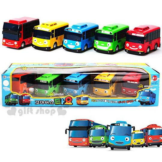 〔小禮堂〕韓國小巴士TAYO 發條巴士玩具組《S.紅黃藍綠.5入》