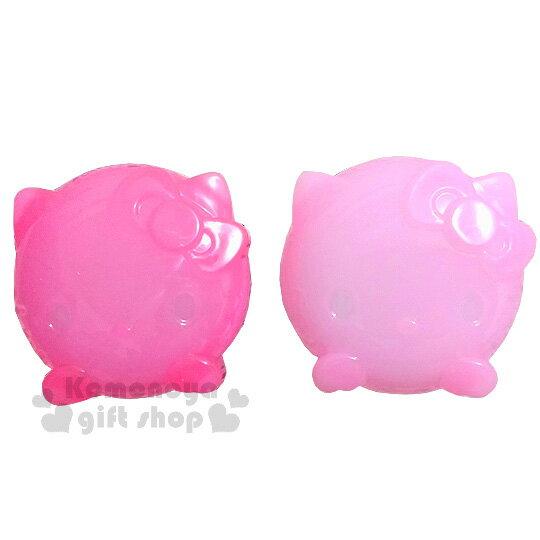 【領券折$30】小禮堂 Hello Kitty 造型乳液盒《2入組.透明.粉/桃紅.大臉》附造型勺子