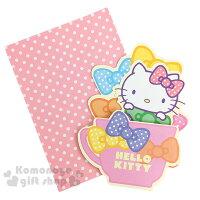 教師節禮物 教師節卡片推薦到〔小禮堂〕Hello Kitty 造型萬用卡片《繽紛蝴蝶結.大臉》附信封就在小禮堂-樂天旗艦店推薦教師節禮物 教師節卡片