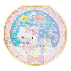 〔小禮堂〕Hello Kitty 日製圓形便條紙《粉.城堡.燙金》2款圖案各30張