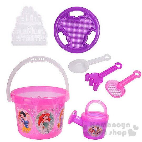 〔小禮堂〕迪士尼 公主 挖沙玩具組《粉紫.袋裝.寶石》7件組