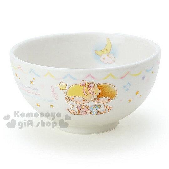 〔小禮堂〕雙子星日製陶瓷碗《白.繽紛星星.音符.坐姿》金正陶器