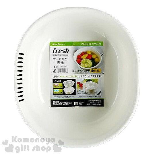 〔小禮堂〕Sanada日製洗菜籃《白.橢圓》5.3L