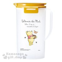 小熊維尼周邊商品推薦〔小禮堂〕迪士尼 小熊維尼 日製冷水壺《霧面白.黃蓋.2.0L》