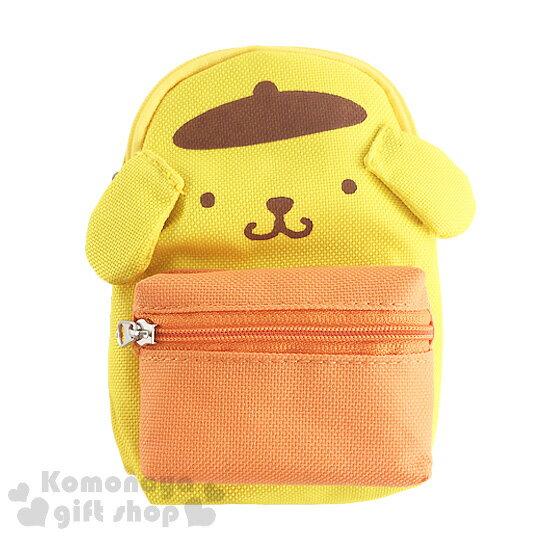 〔小禮堂〕布丁狗 帆布造型收納包《S.背包造型.黃橘.大臉》