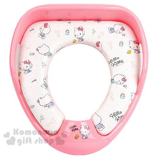 〔小禮堂〕Hello Kitty 輔助馬桶座《粉白.多動作.點點》素描系列