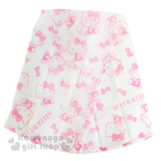 〔小禮堂〕Hello Kitty 身體沐浴巾《白粉.蝴蝶結.側坐.滿版.30x100cm》 1