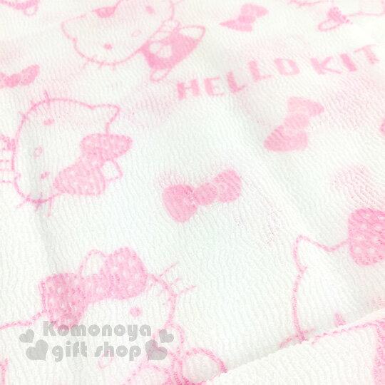 〔小禮堂〕Hello Kitty 身體沐浴巾《白粉.蝴蝶結.側坐.滿版.30x100cm》 4