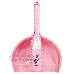 〔小禮堂〕Hello Kitty 迷你掃把畚箕組《粉.大臉》