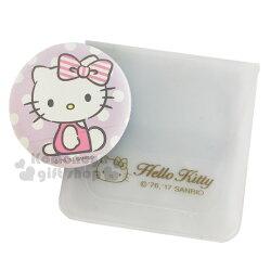 〔小禮堂〕Hello Kitty 手套型氣墊粉撲《紫.點點.側坐》BB.CC霜.氣墊粉餅專用